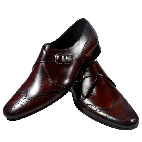 Classic pure leather brown shoes