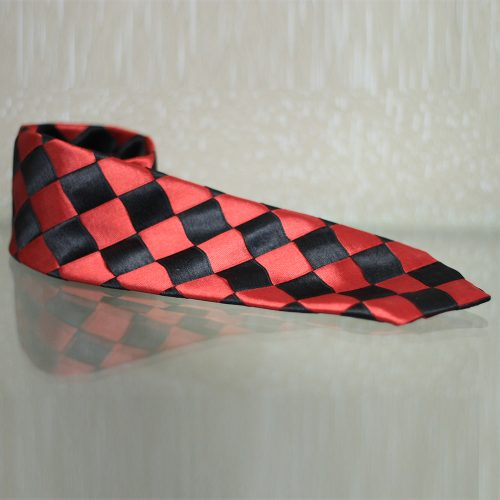 Red & black design Polyester & rayon mix1